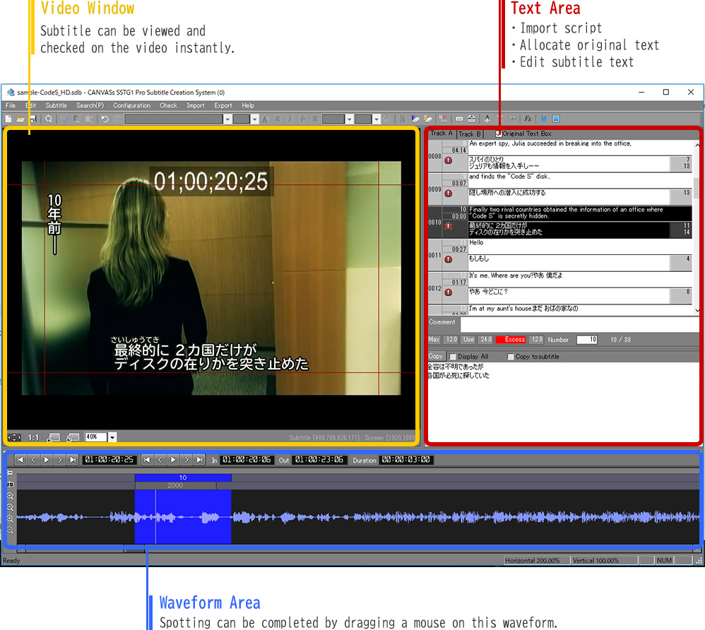 SSTG1Pro Subtitling Software | CANVASs